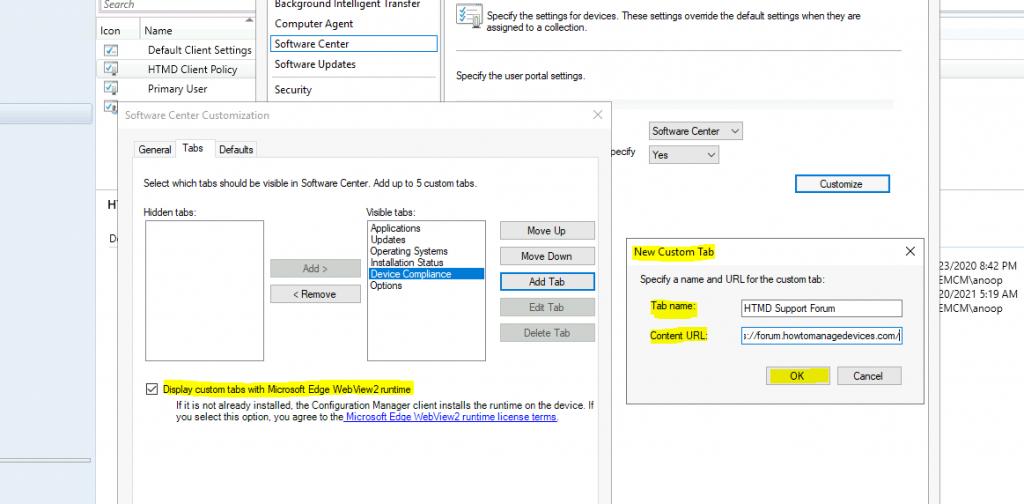 SCCM Software Center Custom Tab Setup | ConfigMgr
