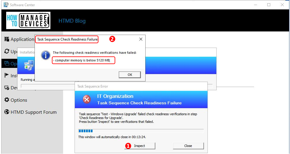 SCCM Task Sequence Check Readiness Failure | ConfigMgr