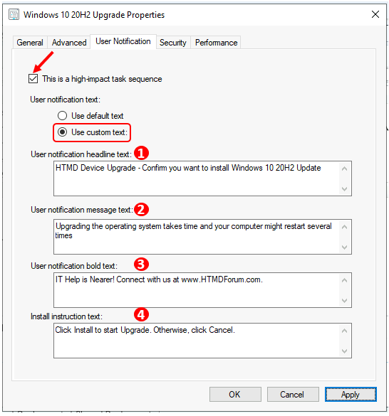 Custom Software Center User Notification for SCCM Task Sequence Deployment | ConfigMgr
