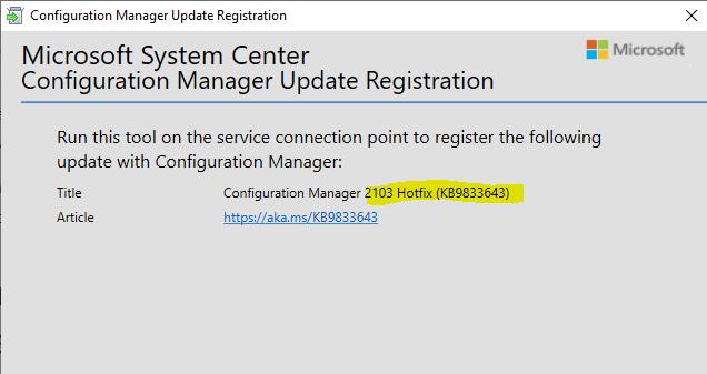 SCCM 2103 Hotfix List | ConfigMgr | Configuration Manager