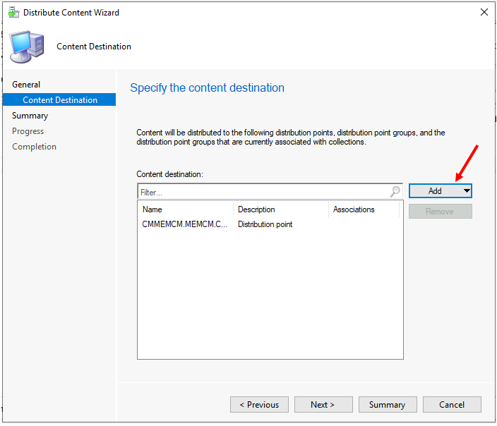 Distribute Windows 11 Image - Specify the DPs, DP Groups