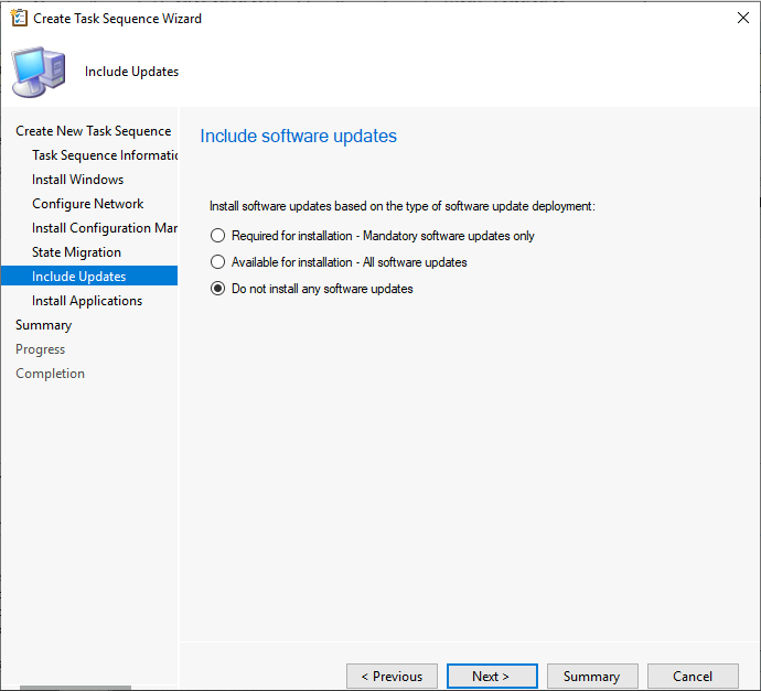 Include Software Updates