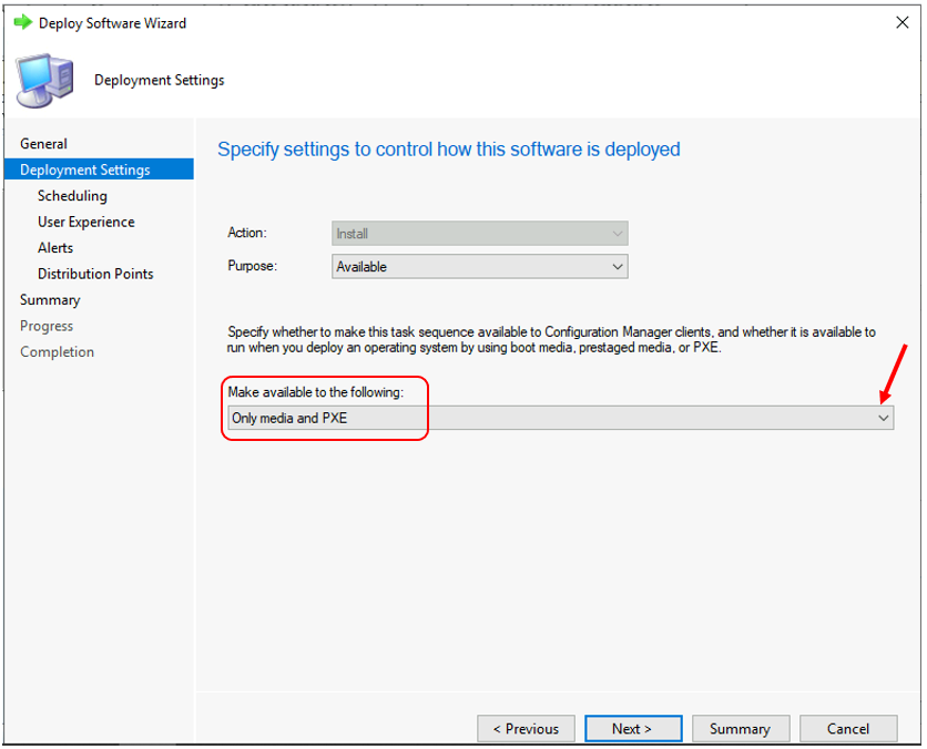 Deploy Windows 11 Task Sequence - Configure Deployment Settings