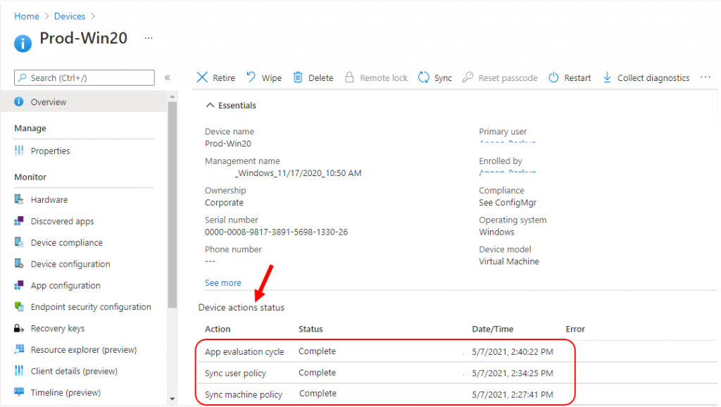 How to Remotely Run Device Actions for ConfigMgr device with Intune | Endpoint Manager
