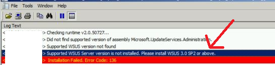 Sync issues with the WSUS 3.0 SP2 version of Windows Server Update Services | SCCM | ConfigMgr