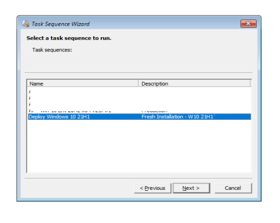 Select a task sequence to run - SCCM OSD Computer Name Prompt In Task Sequence Deployment | ConfigMgr