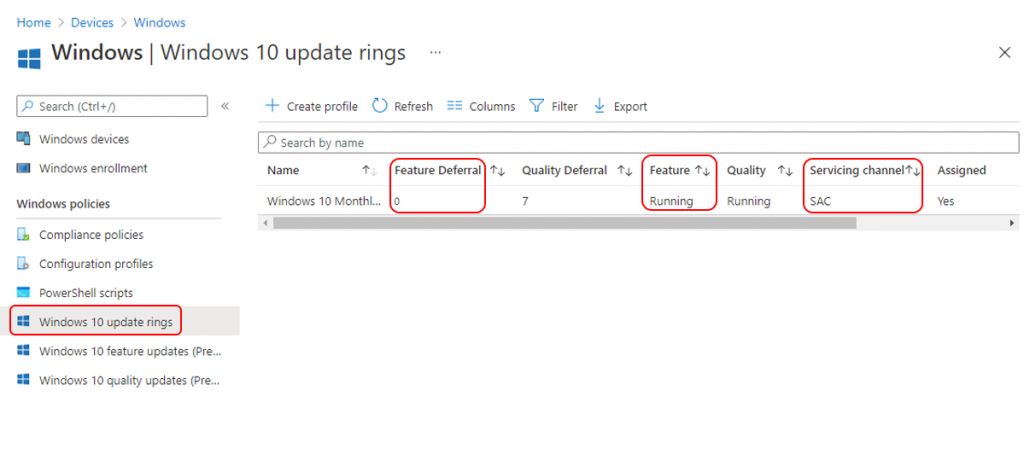 Intune WUfB Feature Update Policy to Upgrade Windows 10 21H1 | Endpoint Manager