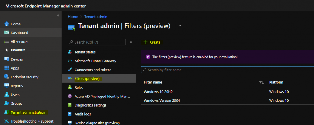 WVD Intune Filters to Target Apps Policies Only to Windows 10 Multi-session VMs | Windows Virtual Desktop | Endpoint Manager