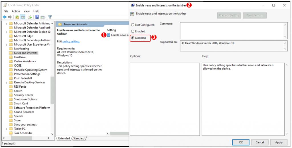 Turn Off Windows 10 News and Interests on the Taskbar