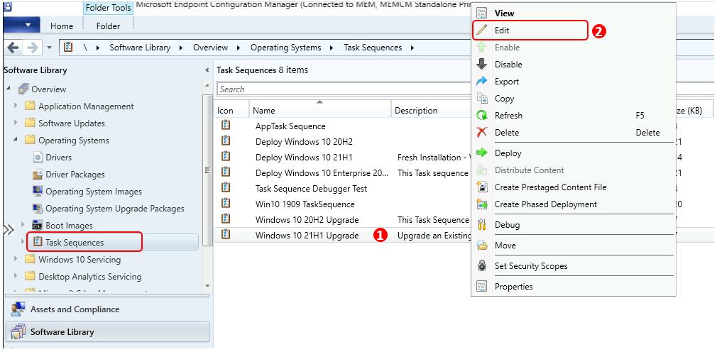 Windows 10 21H1 Upgrade Using SCCM Task Sequence | ConfigMgr | Best Guide 1