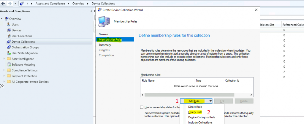 How to Create SCCM Windows 10 21H1 Device Collection Using WQL Query ConfigMgr | Endpoint Manager