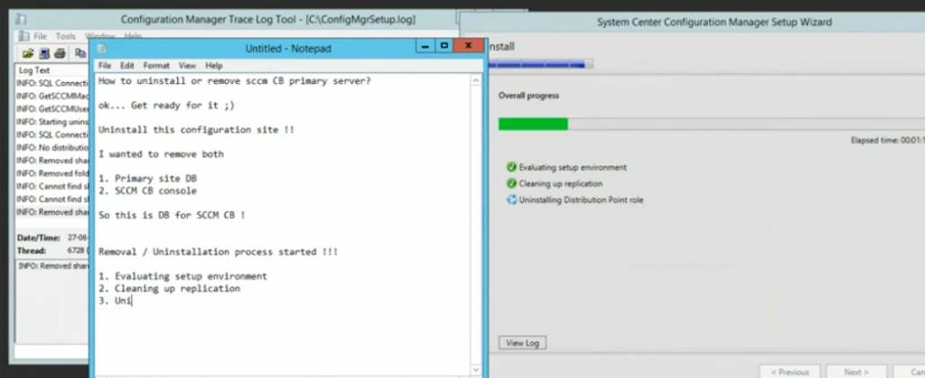 Uninstall Remove SCCM Primary Site | ConfigMgr CB | Configuration Manager | Endpoint Manager