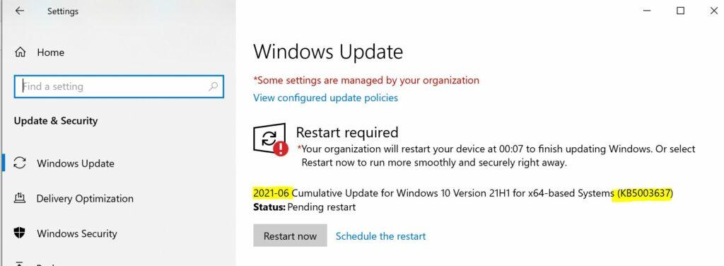 Windows 10 June Patch Windows 10 21H1 Patch | June 2021 | Intune | Outlook | Excel | 3D Paint | Defender | Remote Desktop | Microsoft Edge
