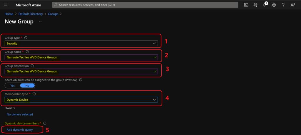 Azure AD Dynamic Device Group Using Display Name Property | Azure Virtual Desktop | VM Name