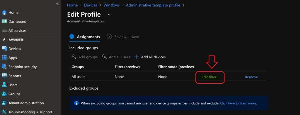 MEM Intune: Create Assignment Filters for Azure Virtual Desktop Single Session Windows 10 | AVD 3