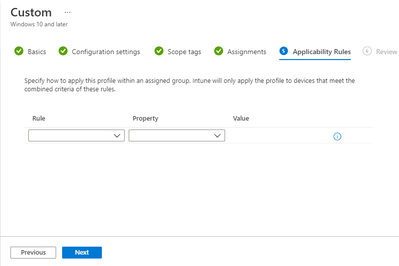 Intune Policy Applicability Rules