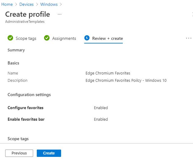 Configure Edge Chromium Favorites Using Intune | Endpoint Manager