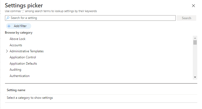Create Policy using Intune Settings Catalog | Endpoint Manager