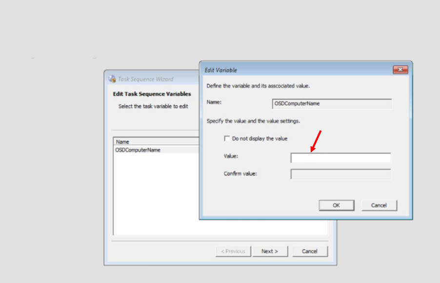 Edit Task Sequence Variable- SCCM OSD Computer Name Prompt In Task Sequence Deployment | ConfigMgr