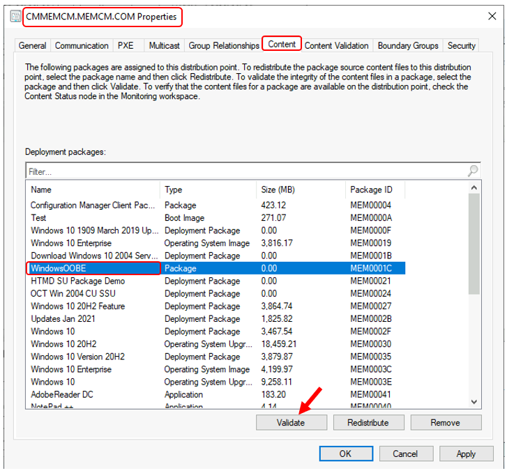 Content Validation in SCCM | Configuration Manager