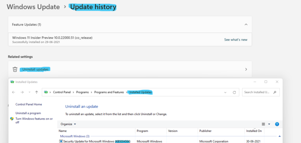 Windows 11 Quality Updates Feature Updates Driver Updates Firmware Updates