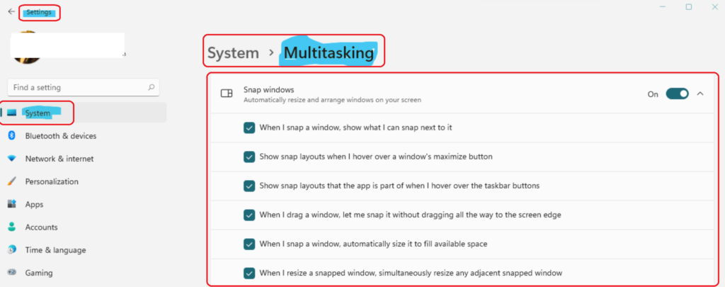 How to disable or enable Snap Layouts on Windows 11 Multitasking Options Easiest Option