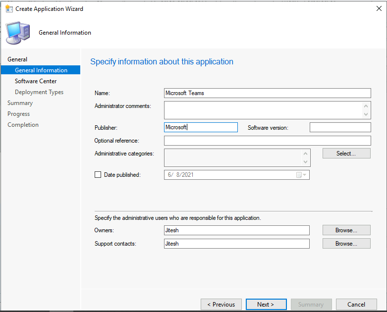 SCCM Application Supported Deployment Types | ConfigMgr