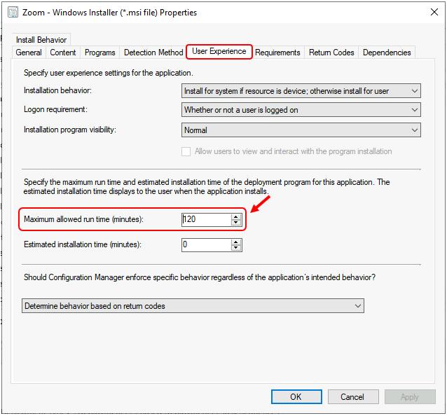 Increase SCCM Maximum Run Time for Application | ConfigMgr 2