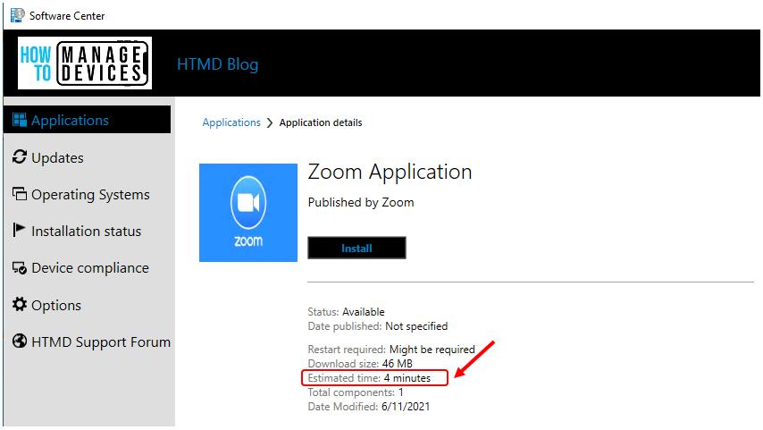 SCCM Application Estimated Time | ConfigMgr