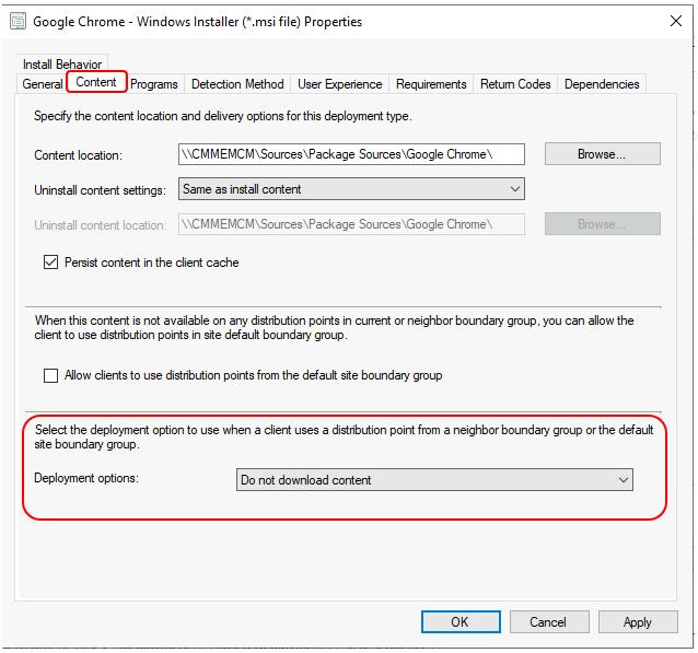 SCCM Application Deployment Options   ConfigMgr