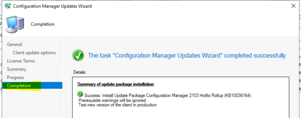 SCCM 2103 Hotfix Rollup Update KB10036164 | List of Fixes for Configuration Manager 2103 | ConfigMgr