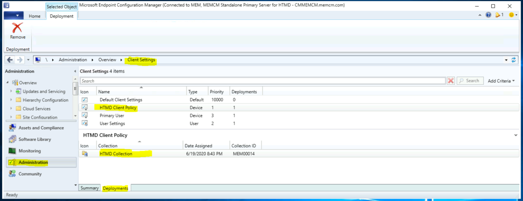 The best method to Find Custom Client Settings for a Collection in SCCM ConfigMgr 1