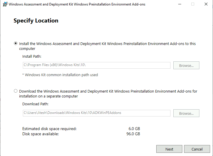 Windows 11 WinPE Add-ons