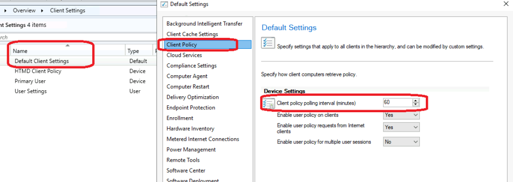 SCCM Client Policy Polling Interval Define Custom Policy Interval ConfigMgr
