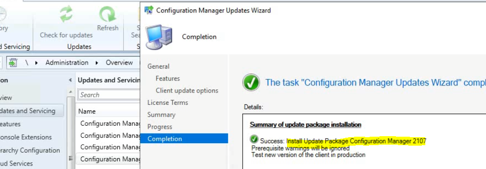 ConfigMgr 2107 is Released How to Upgrade to SCCM 2107 Step by Step Guide