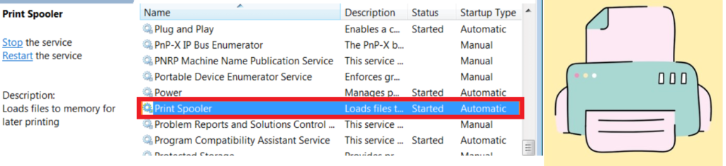 Fix Windows Print Spooler service Issue Out of Band Update