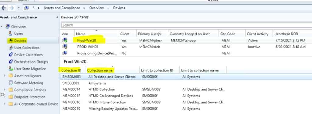 Find Collection Members for a Device in SCCM ConfigMgr Easiest Option