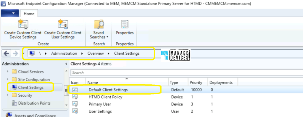 Find List of SCCM Client Settings Assigned for a Device in ConfigMgr Console Easiest Method