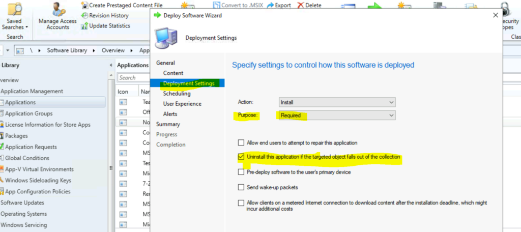 Implicit Uninstall of an Application using SCCM Remove Device from Collection