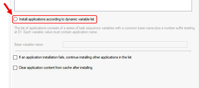 Install applications according to dynamic variable list