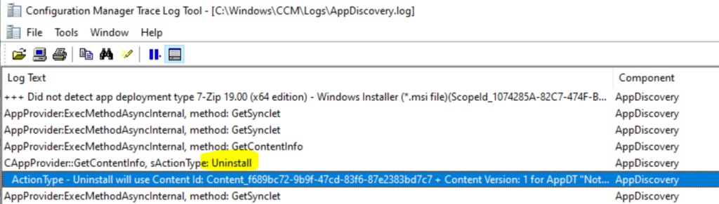Remove Device from Collection Implicit way to Uninstall an Application using SCCM