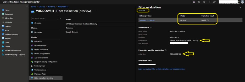 Create Windows 11 Filter Rule in Intune 1