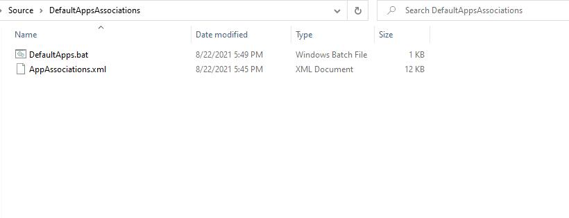 Scripts - Configure File Associations using SCCM