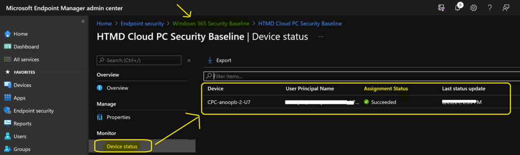 Security Baseline for Windows 365