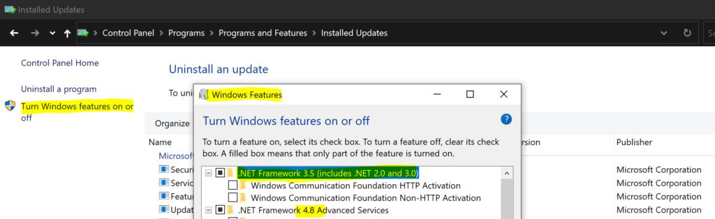 Windows 10 - SCCM Report for DotNet Framework Versions
