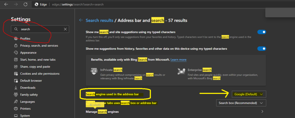 Microsoft is Forcing to use Bing as Default Search Engine in Microsoft Edge Browser?
