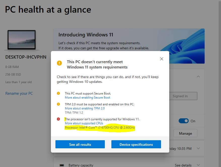 PC Health Check App Windows 11 Upgrade PC Health Check App Updates
