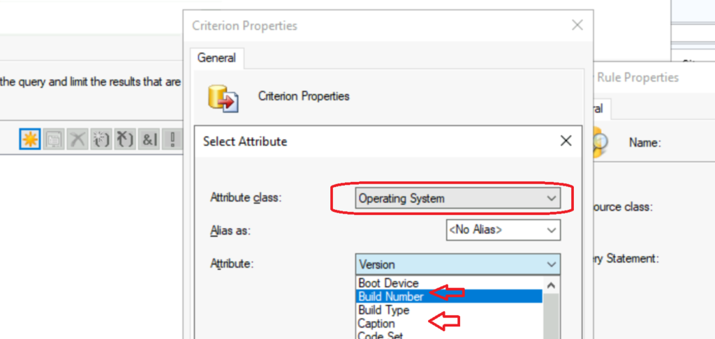 SCCM Device Collection for Windows Server 2022 Build Numbers