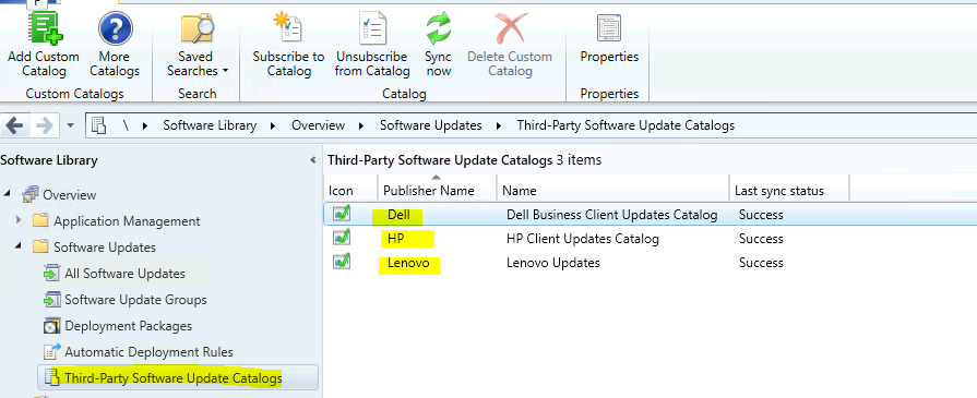 List of Free SCCM Catalogs for Third-Party Software Updates
