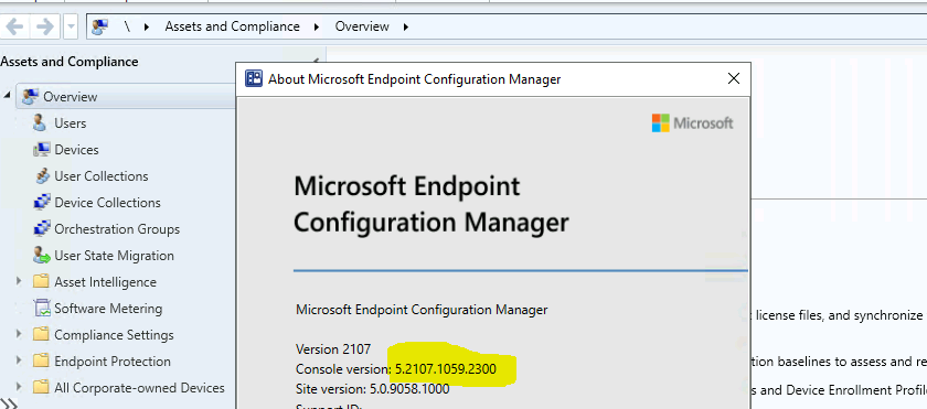 KB10503003 Hotfix Released for SCCM 2107 Early Ring 1